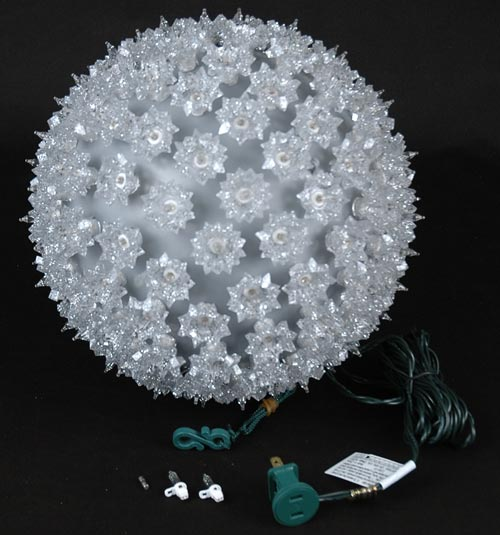 silver 10 starlight sphere 150 light christmas ball. Black Bedroom Furniture Sets. Home Design Ideas