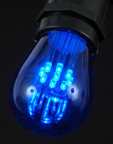 Assorted multi Color LED S14 Bulbs with 9 LED s - Novelty Lights Inc