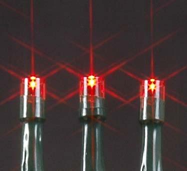 Red Led Solar Ed Lights 50 Light String Green Wire