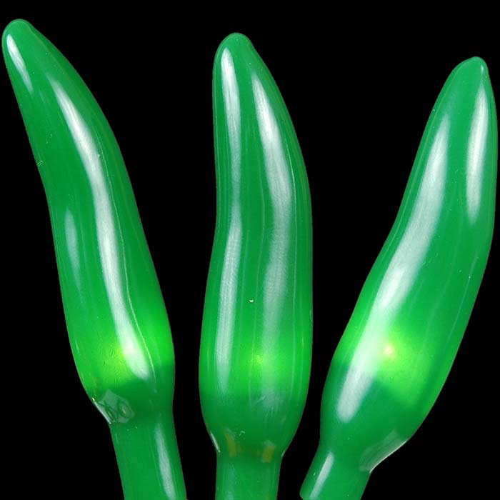 Green Chili Pepper Light Strings With 35 Lighted Peppers