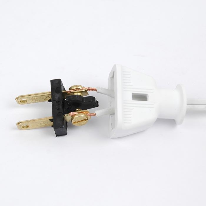 White Rubber Male Plugs