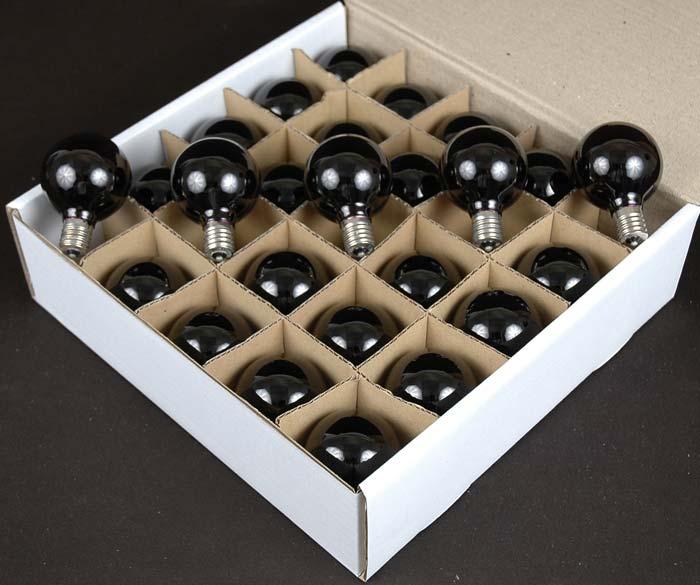 100 Black Light G50 Globe String Light Set On Black Wire
