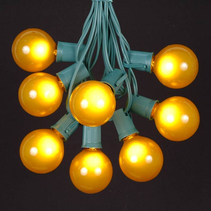 Yellow Globe String Lights : 100 Yellow G50 Globe String Light Set on Green Wire - Novelty Lights - Inc