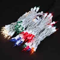 20 light white wire mini christmas lights