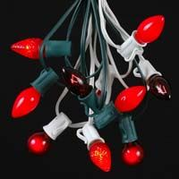 Picture for category Red C7 Outdoor Christmas String Light Sets