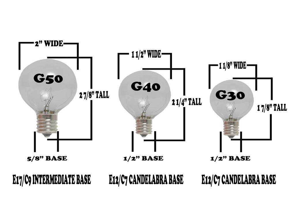Warm White LED G50 Globe Bulbs - Novelty Lights