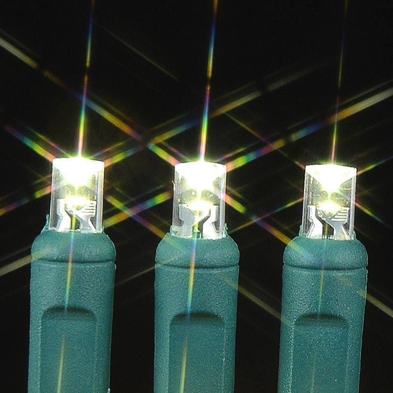 Wide Angle Warm White 100 Bulb LED Christmas Lights Sets 6