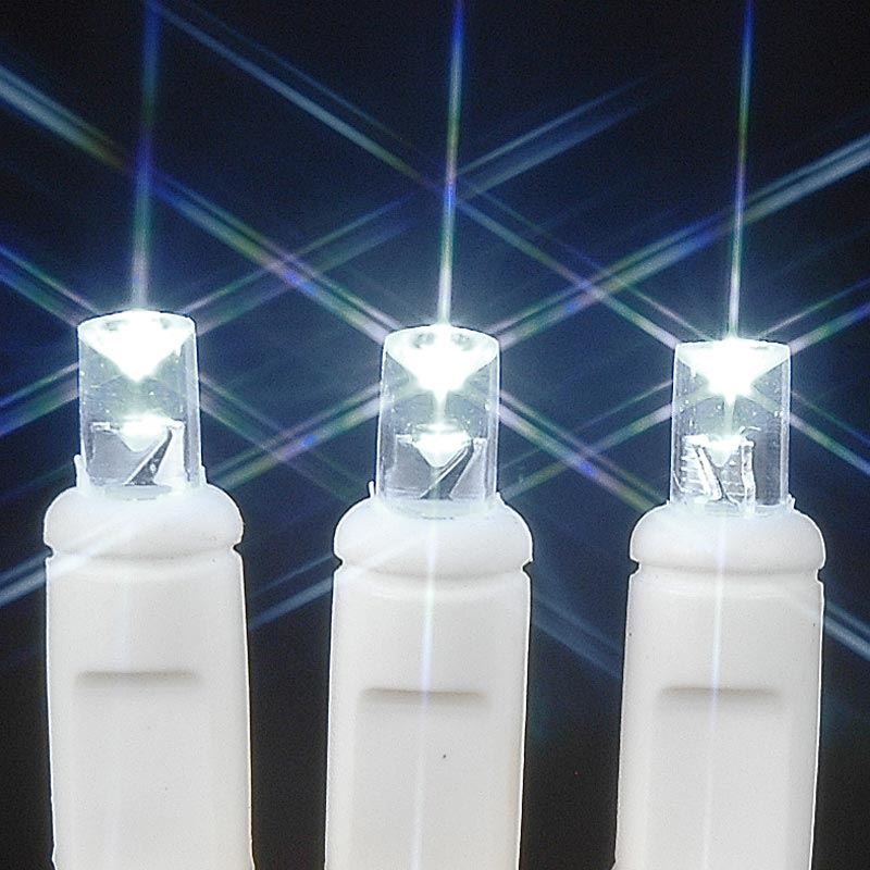 20 Light Battery Operated Lights Pure White White Wire - Novelty ...