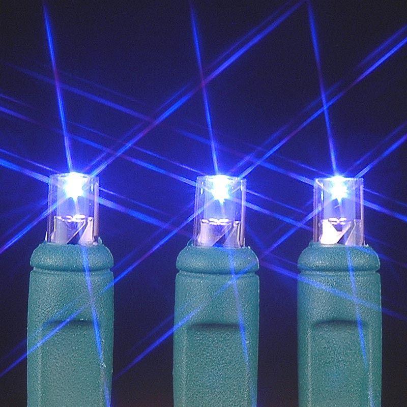 Wide Angle Purple 50 Bulb LED Christmas Lights Sets 11 Feet Long ...
