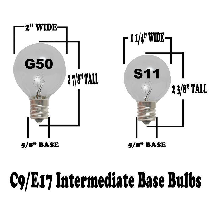 S11 Clear Sign Bulbs 10 Watt E17 Base Novelty Lights Inc