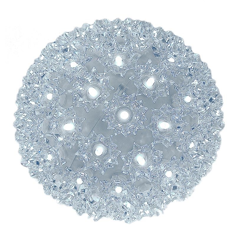 """Picture of 100 Pure White LED 7.5"""" Sphere"""