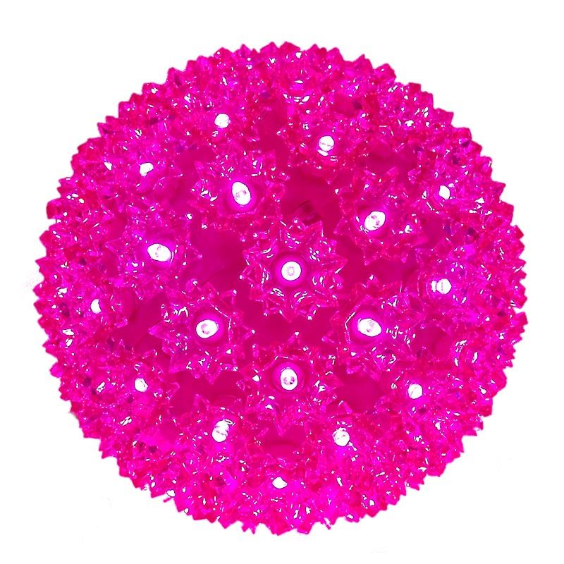 """Picture of 100 Pink LED 7.5"""" Sphere"""