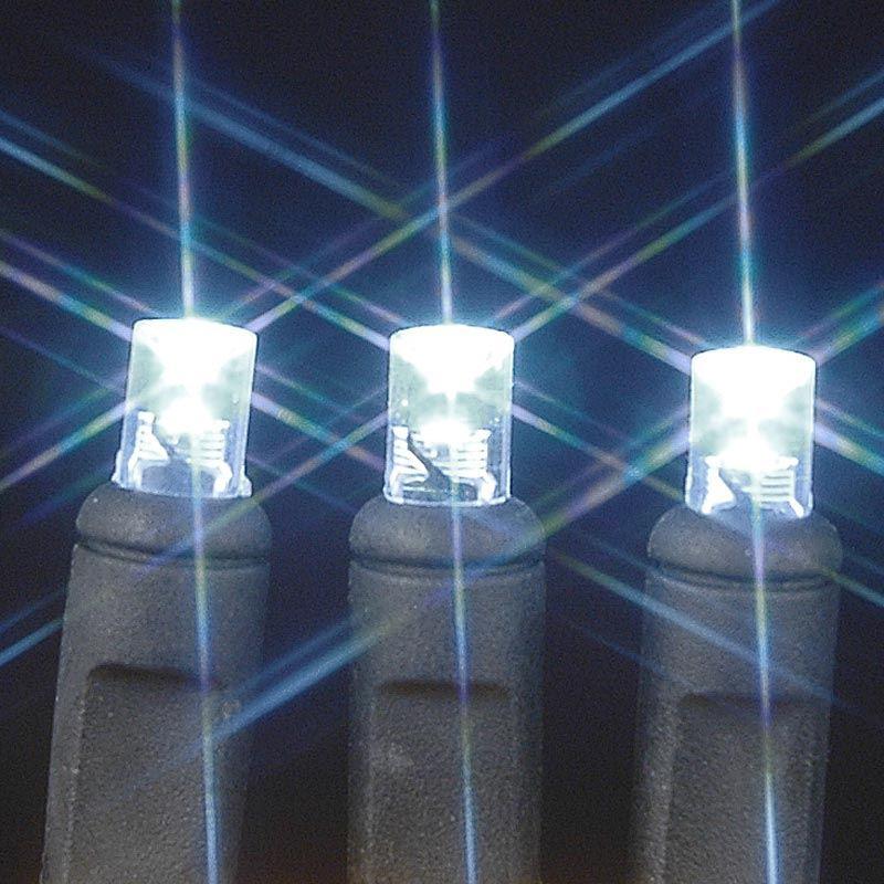 Wide Angle Pure White 50 Bulb LED Christmas Lights Sets 11 Feet ...