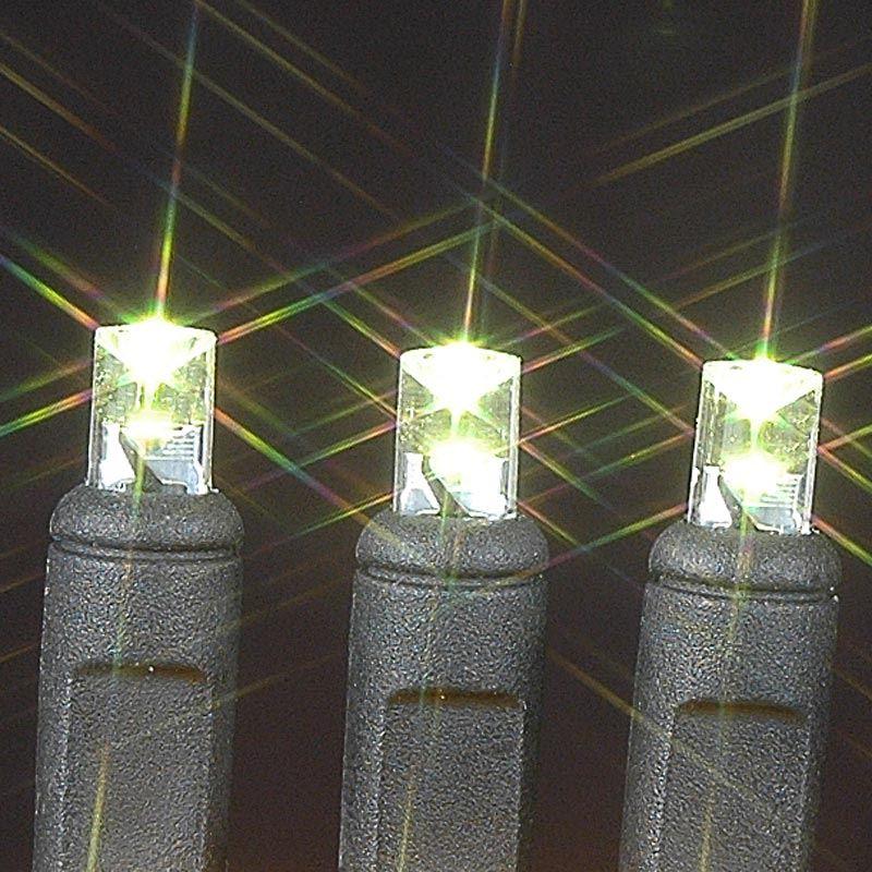 50 Wide Angle Warm White LED Mini Christmas Lights Sets 11 Feet on ...
