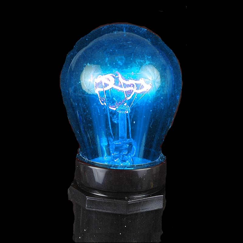 Picture of 25 Pack of Transparent Blue S14 11 Watt Bulbs Medium Base e26