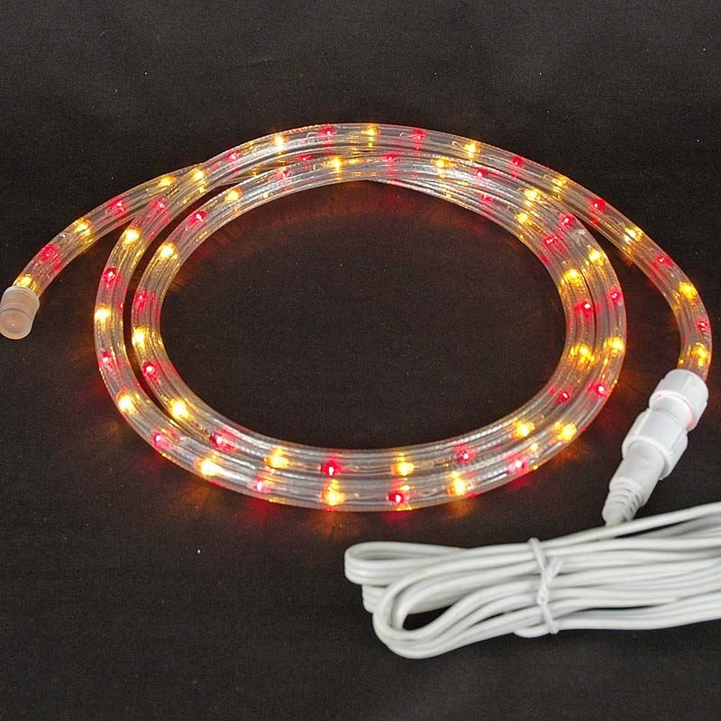 "Picture of Red/Yellow Rope Light Custom Cut 1/2"" 120V Incandescent"