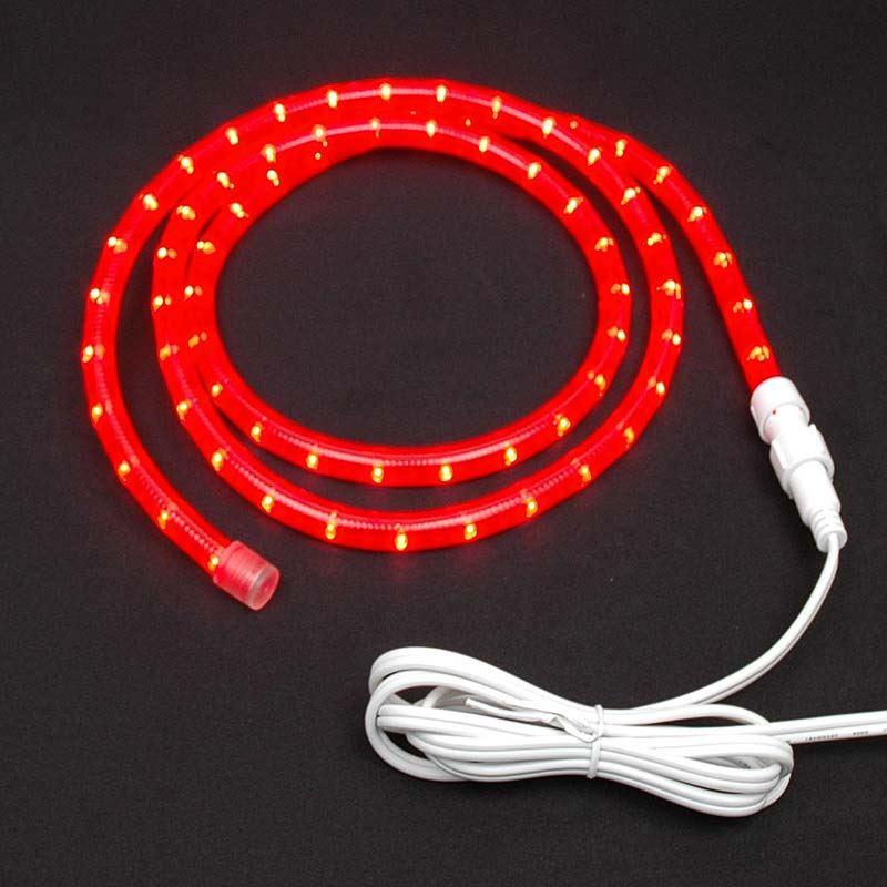 "Picture of Red Chasing Rope Light Custom Kits 1/2"" 3 Wire"