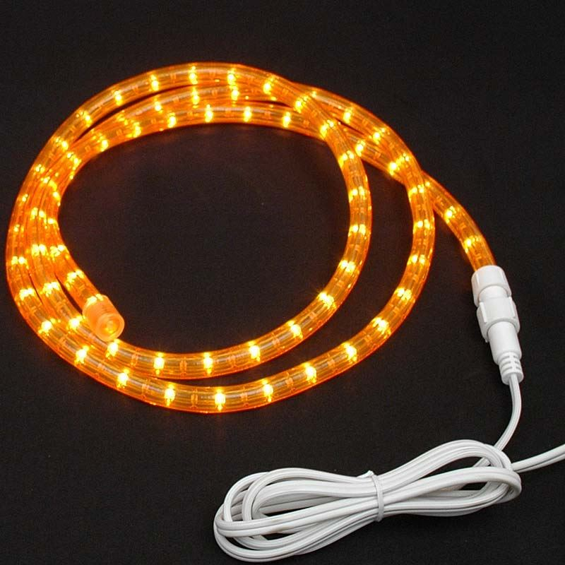 Amber and orange rope lights amber rope light custom cut 12 120v incandescent aloadofball Gallery