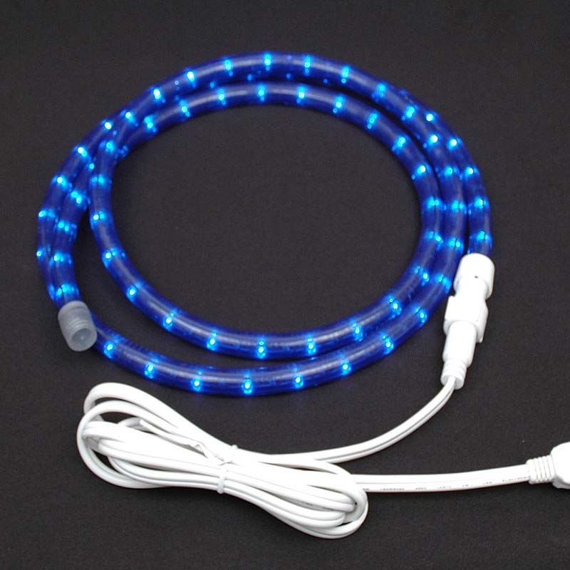 "Picture of Blue Chasing Rope Light Custom Kits 1/2"" 3 Wire"
