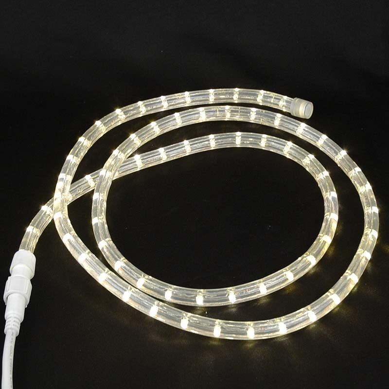 "Picture of Warm White LED Custom Rope Light Kit 1/2"" 2 Wire 120v"