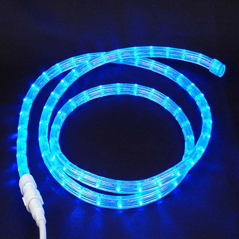 Custom blue led rope light kit novelty lights picture of blue led custom rope light kit 12 2 wire 120v mozeypictures