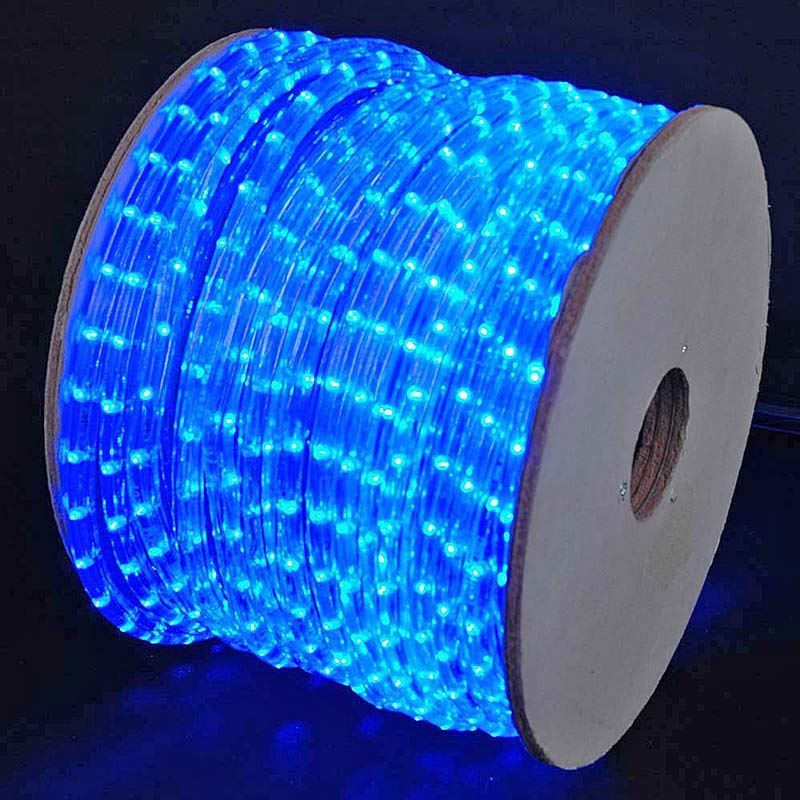 150 Led Blue Rope Light Spool 1 2 Inch 120 Volt