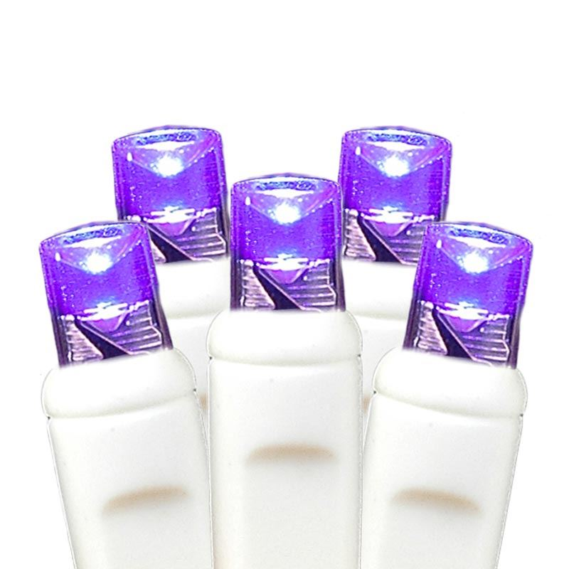 Purple LED Net Lights, White Wire 4\' X 6\' - Novelty Lights Inc