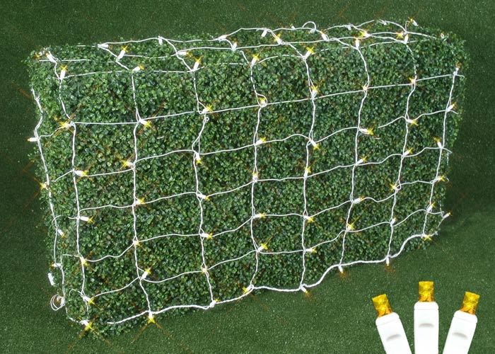 Picture of Yellow LED Net Lights, White Wire 4x6