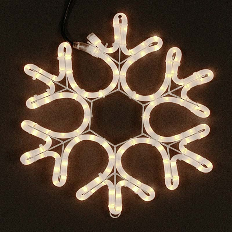 "Picture of 15"" Incandescent Rope Light Snowflake"