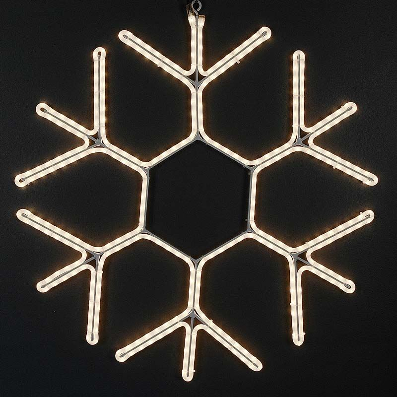 "Picture of 24"" Incandescent Rope Light Snowflake"