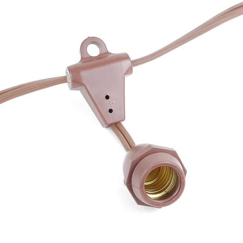 Picture of 25' Suspended Brown Commercial Grade Stringer e17 Base Sockets