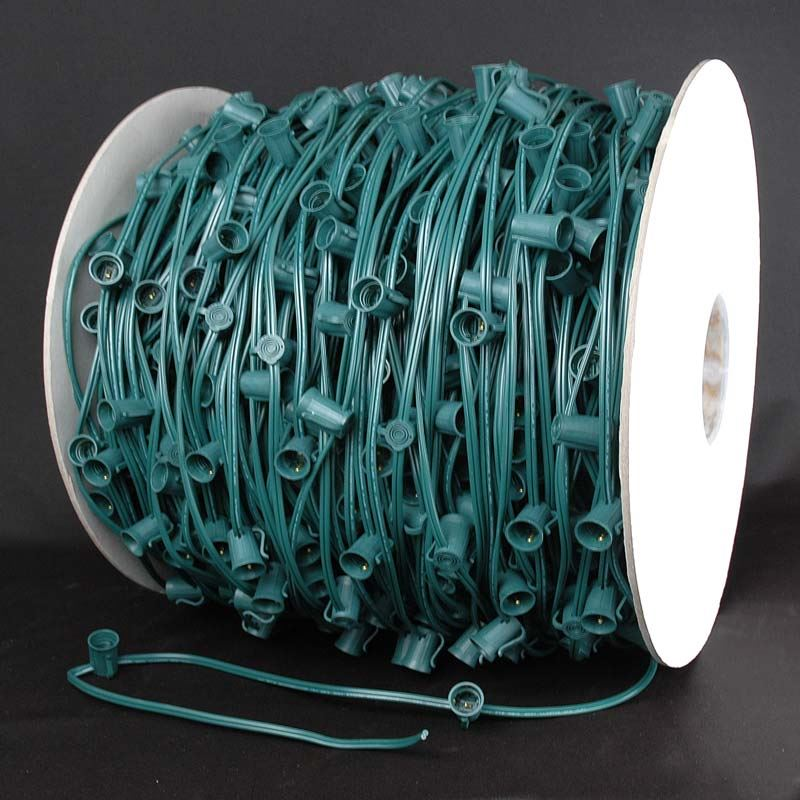 10 amp bulk reels of c7 sockets on 12 spacing novelty lights inc picture of 10 amp c7 1000 spool 12 spacing green wire mozeypictures Gallery