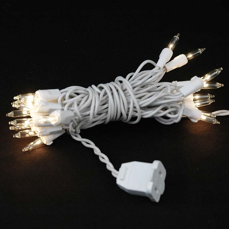 Christmas Lighting Wire : Led battery operated lights warm white on wire