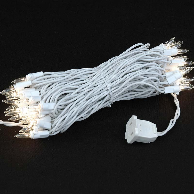 Christmas Lighting Wire : Christmas mini lights set light white wire