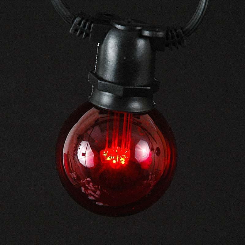 Picture of Red LED G50 Globe Bulbs - 5pk