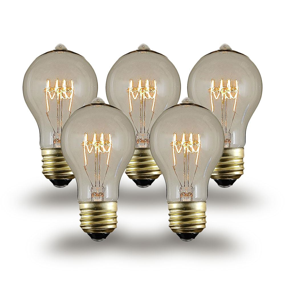 Buy 25w a19 vintage edison style filament bulbs novelty for Which light bulb to buy