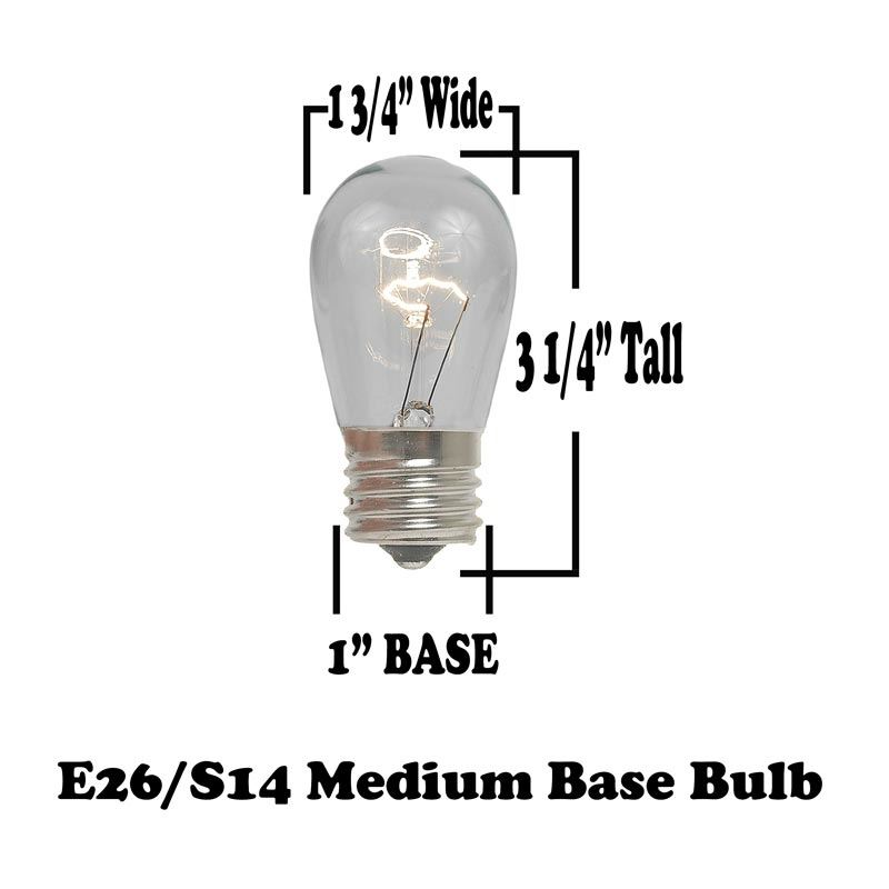 50 Clear S14 Suspended Heavy Duty String Light Sets on White Wire ...