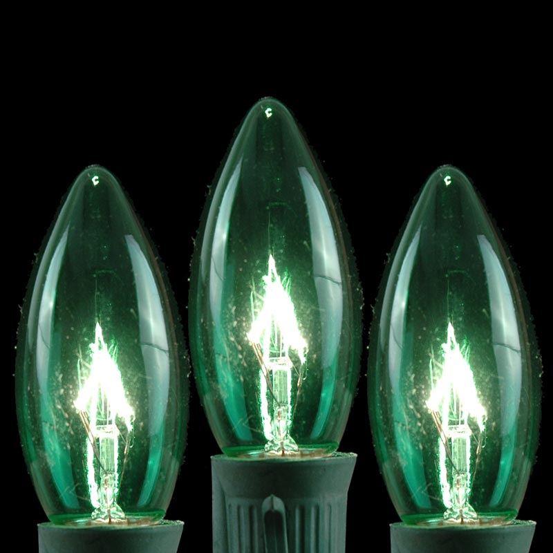 green twinkling c9 christmas light set on green wire novelty lights inc. Black Bedroom Furniture Sets. Home Design Ideas
