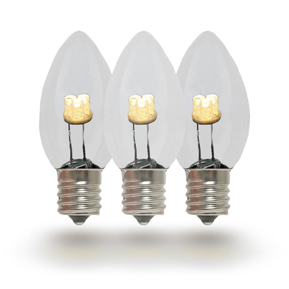 Picture of C7 - Warm White - Glass LED Replacement Bulbs - 25 Pack