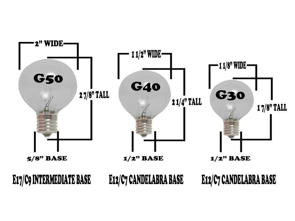 String light company incandescent light bulb pack of 25 -  Picture Of Blue G40 Glass Led Replacement Bulbs 25 Pack