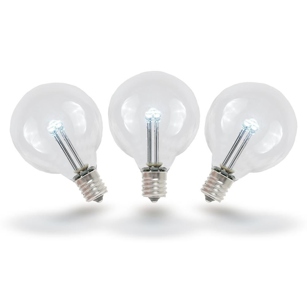 Details About 25 Pack G40 Led Outdoor String Light Patio Globe Replacement Bulbs Warm White