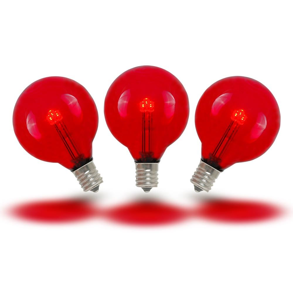Picture of Red - G40 - Glass LED Replacement Bulbs - 25 Pack