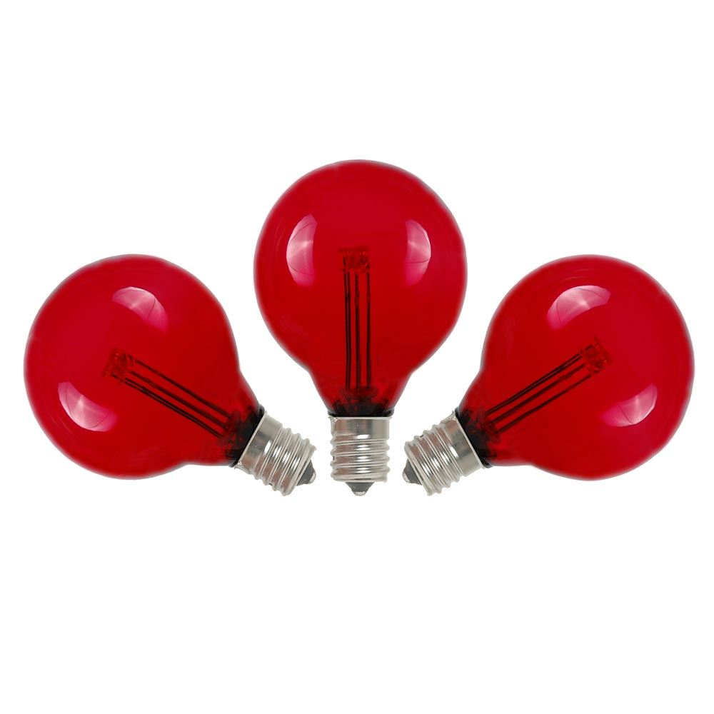 Red Led G40 Glass Globe Light Bulbs Novelty Lights