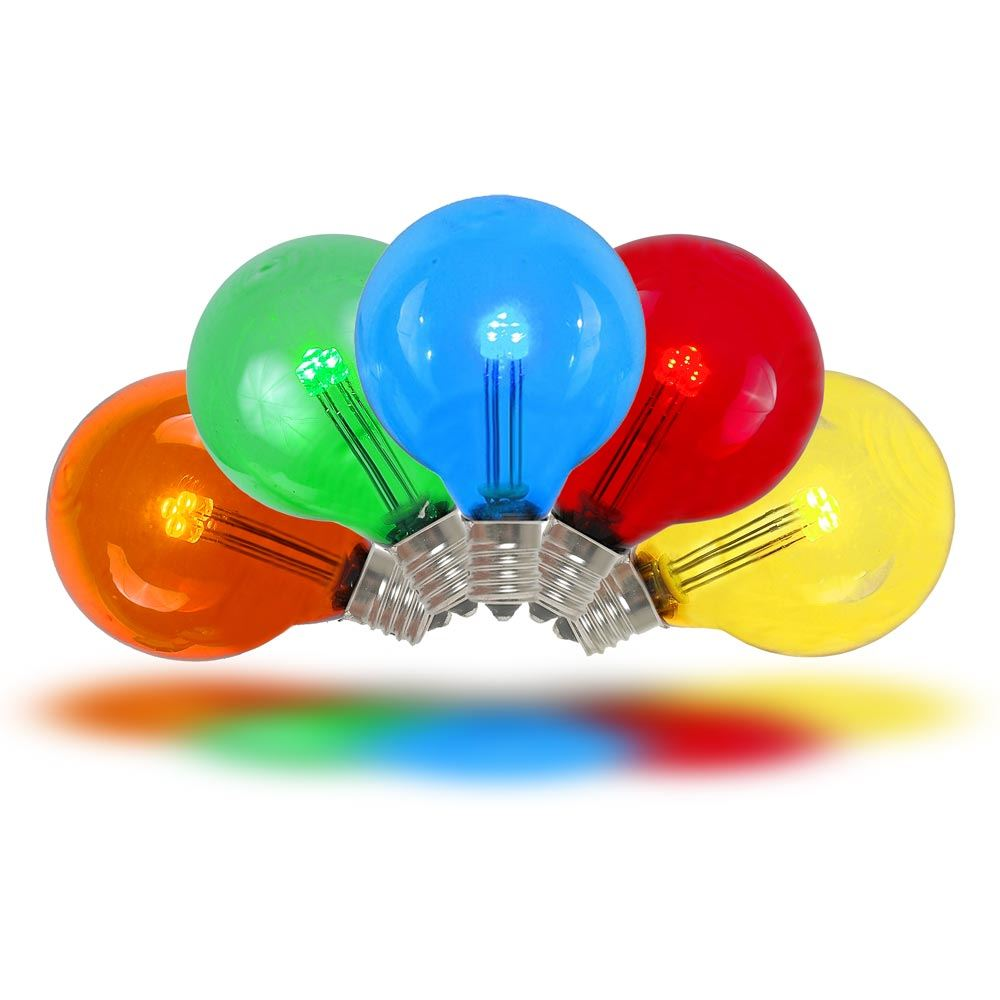 Picture of Multi Colored - G40 - Glass LED Replacement Bulbs - 25 Pack
