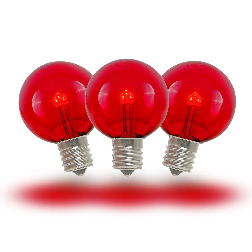 Picture of Red - G30 Glass LED Replacement Bulbs - 25 Pack