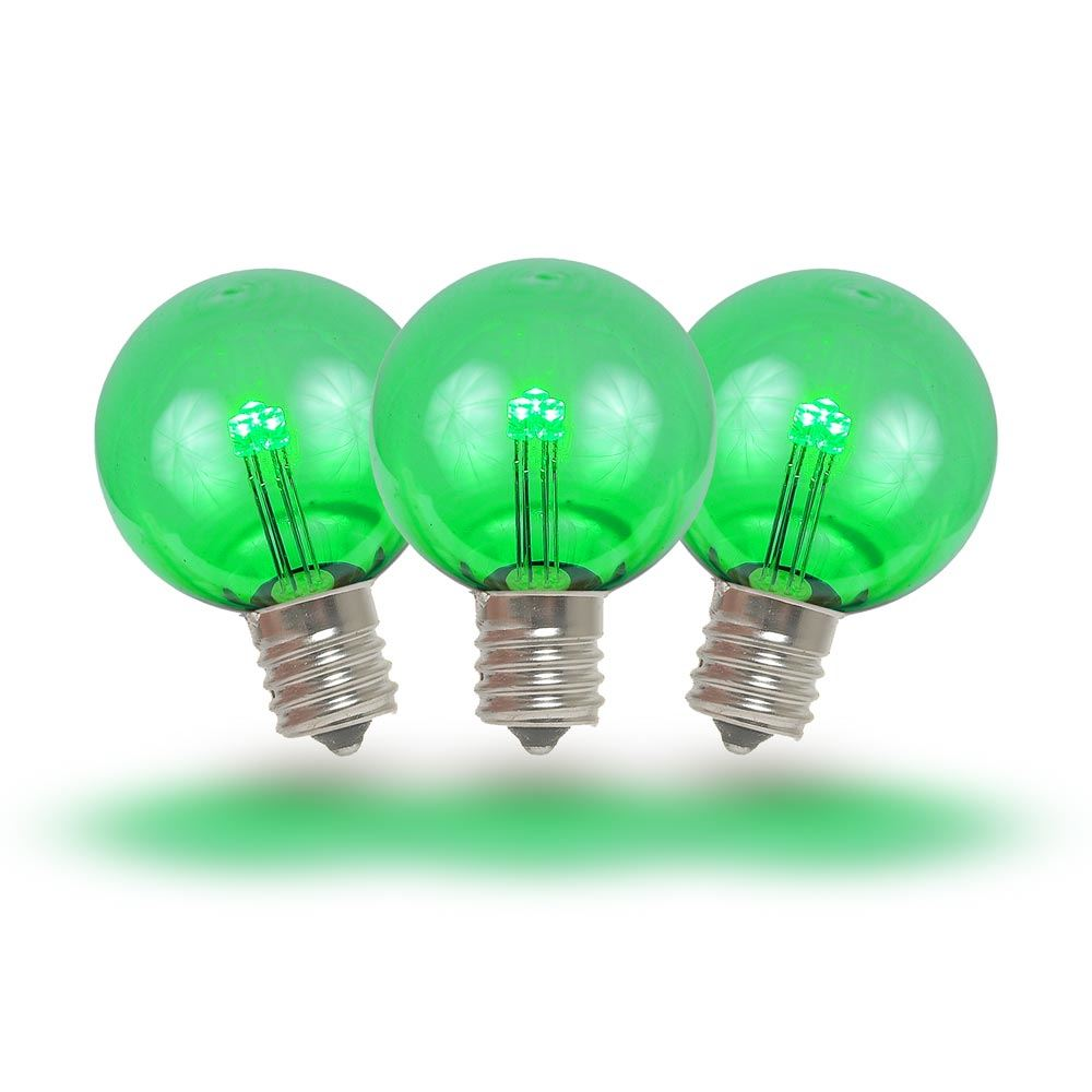 Picture of Green - G30 Glass LED Replacement Bulbs - 25 Pack