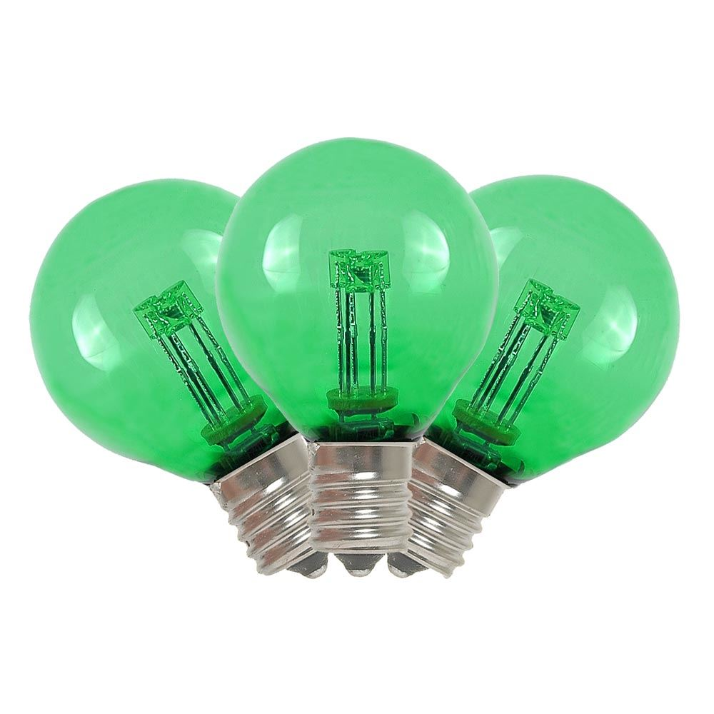String Lights Bulb Replacement : Green LED G30 Glass Globe Light Bulbs - Novelty Lights