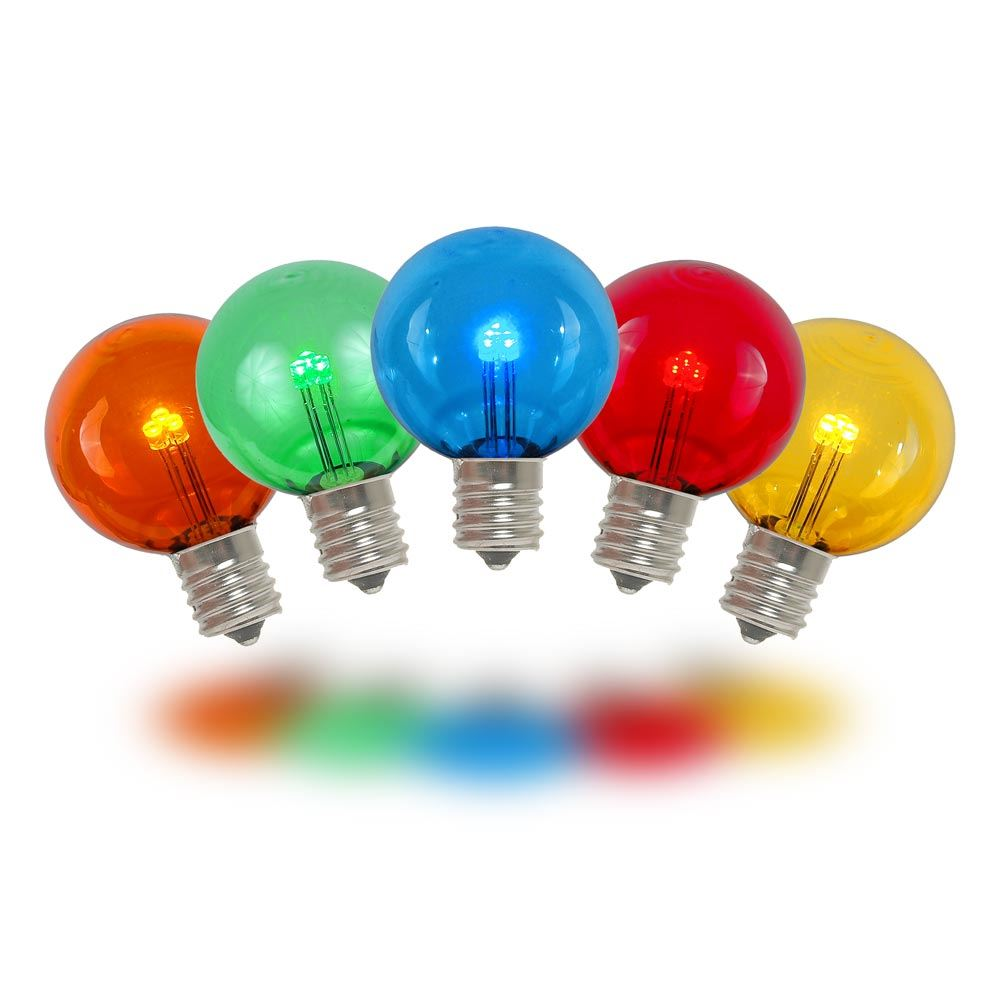 Picture of Multi - G30 Glass LED Replacement Bulbs - 25 Pack