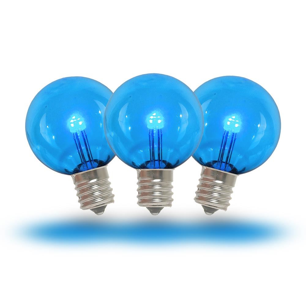 String Lights Bulb Replacement : Blue LED G30 Glass Globe Light Bulbs - Novelty Lights