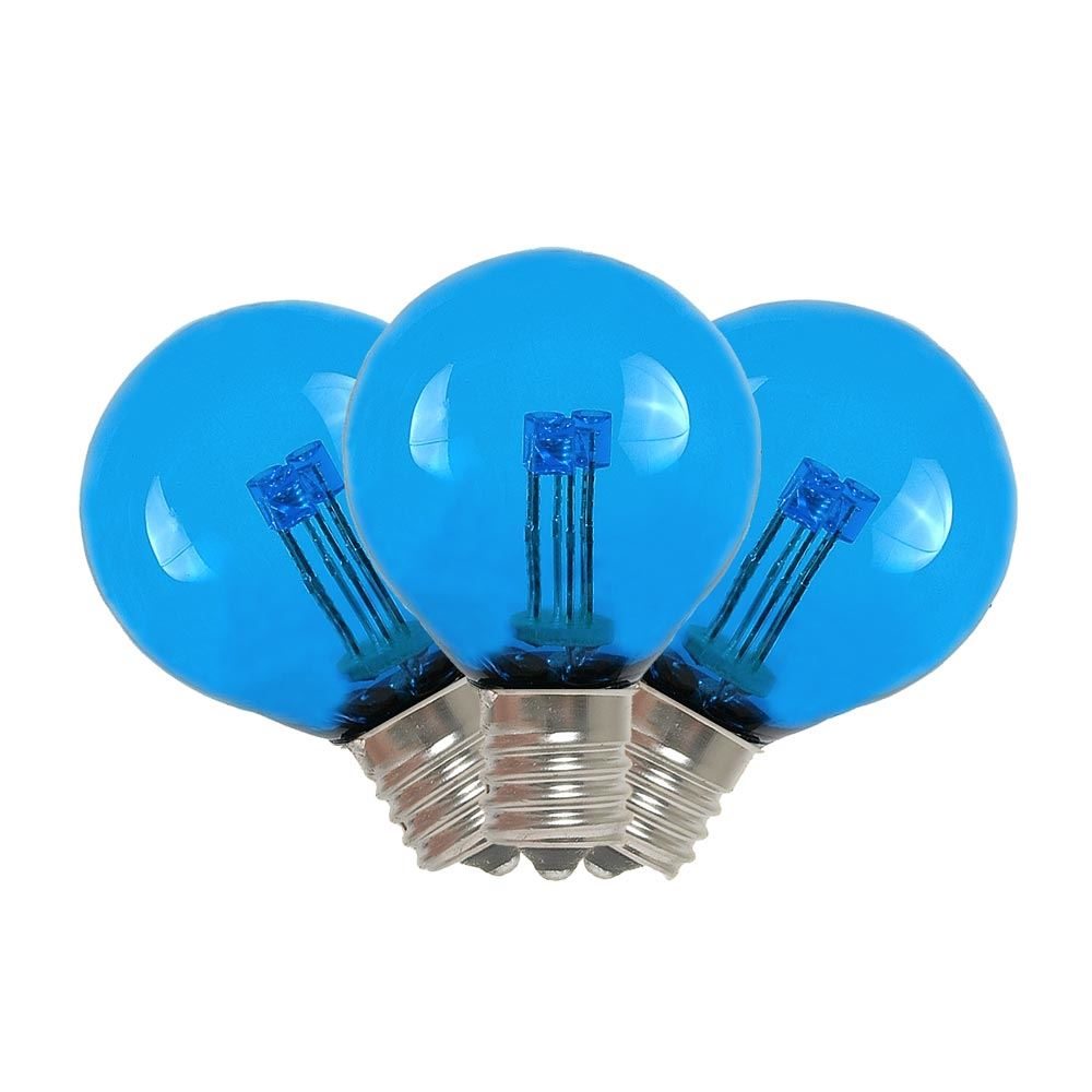 Blue LED G30 Glass Globe Light Bulbs - Novelty Lights